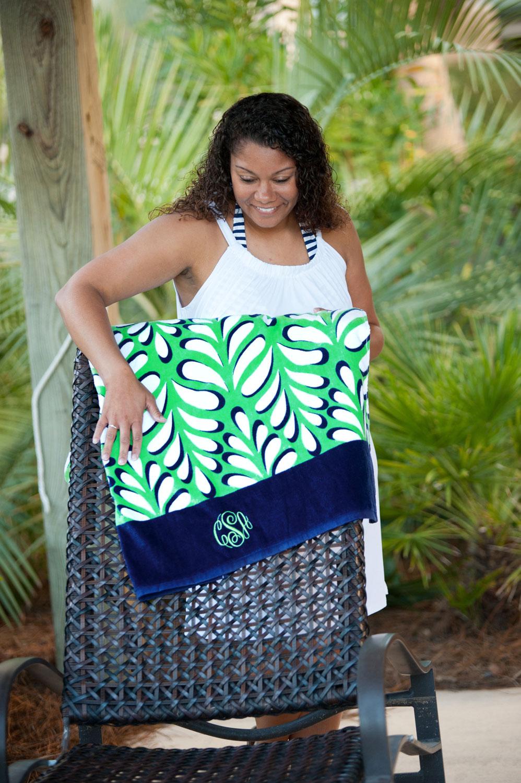 island palm beach towel