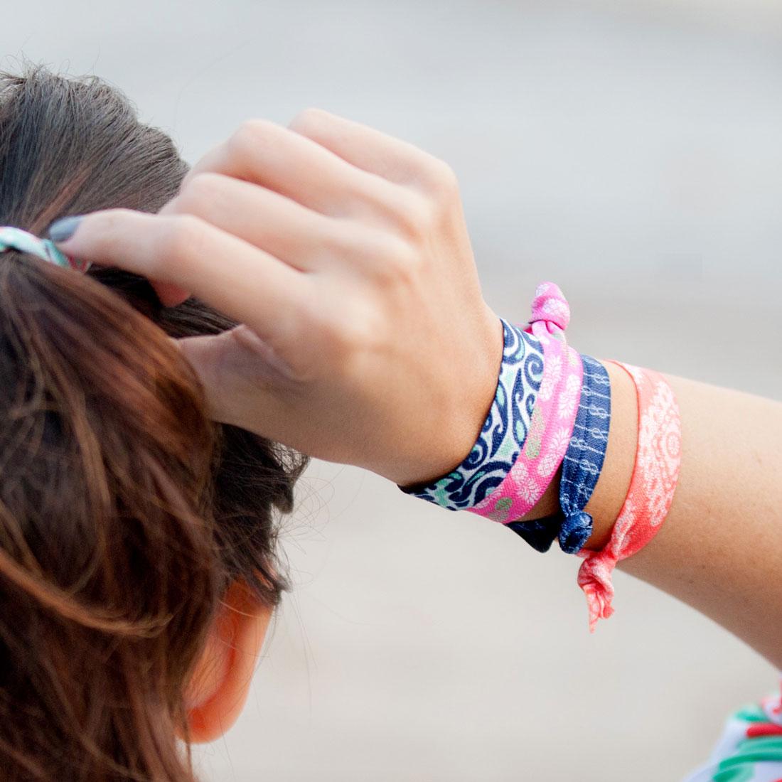 patterned hair ties